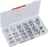 Werkzeyt Sicherungsmuttern-Sortiment 195-teilig - Diverse Größen im Set (M3/M4/M5/M6/M8/M10) -...