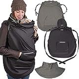 ONVAYA® Tragecover aus Fleece mit Regenschutz | Wintercover für Babytrage | 3-in-1: kuscheliges...