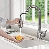 BONADE Küchenarmatur Ausziehbarer Wasserhahn Küche Einhebelmischer 360° schwenkbare...