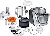 Bosch MUM5 Styline Küchenmaschine MUM56340, vielseitig einsetzbar, große Edelstahl-Schüssel...
