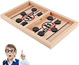 YXYLD Schnelles Sling Puck Spiel, Brettspiel, schnelles Slingshot-Desktop, Hockeyspielset für...