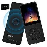 MP3-Player – 32GB MP3-Musik-Player mit FM-Radio und Sprachaufzeichnung, Hi-Fi-Sound, tragbarer...