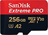 SanDisk Extreme Pro 256GB microSDXC Memory Card + SD Adapter with A2 App Performance + Rescue Pro...