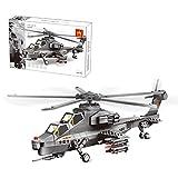 DUNG Technik Flugzeug Bausteine Spielzeug, 283Pcs WZ10 Hubschrauber Militär Modell Kits,...