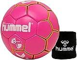 hummel Kinder Handball Kids 091792 Gre 00/0/1 im Set mit Schweiband Old School Small Wristband 99015...