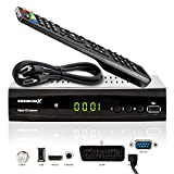 PremiumX HD 521 FTA Digital SAT TV-Receiver DVB-S2 FullHD HDTV Satelliten-Receiver HDMI SCART 2X USB...