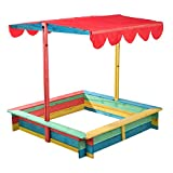 Meinposten. Sandkasten mit berdachung Sandkiste Holz bunt Sonnendach Sonnenschutz Abdeckung Dach...