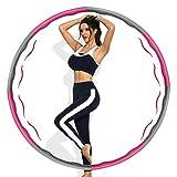 ZOOYAUE Hula Reifen zur Gewichtsreduktion, Fitnessreifen mit Schaumstoff Gewichten, Einstellbar...
