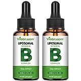 Liposomale Vitamin B-Komplex Flüssigkeit, MAX Absorption, enthält die Vitamine B1, B2, B3, B5, B6,...