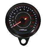 Elektronischer Tachometer, DC 12V Geschwindigkeitsmesser Universal Motorrad LED...