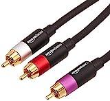 AmazonBasics PBH-20215 - Cinch-Audiokabel, 1 x Cinch-Stecker auf 2 x Cinch-Stecker, 4,5 m