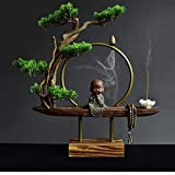 XLxiaowu Little Mönch Buddha Rückkehrende Räuchergefäße Zen Räucherstäbchen Teeset Heimdeko...
