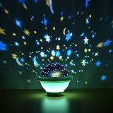 YiYaa Sternenhimmel Projektor, LED Nachtlicht Sternenprojektor, 360° Rotierend Projektionslampe,...