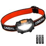 OMERIL Stirnlampe Kopflampe Stirnlampe LED Superhell Wasserdicht Leichtgewichts Mini Stirnlampen...