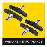 V-Brake Bremsbeläge 2 Paar 70mm Symmetrisch I Für Shimano, Tektro, Avid, Sram, XLC UVM I Hohe...