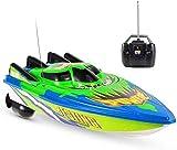 zeyujie Grün High Speed 20km / h Fernbedienung Boot Akku Professionelle 2,4 GHz RC Speedboat...