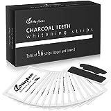 Aktivkohle White Stripes 56pcs, MayBeau Zahnaufhellungs Bleaching Strips Zahnpflege Zahnreinigung...