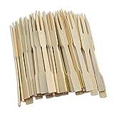 HomeDecTime 200 Stücke Einweg Bambus Catering Gabeln Für Vorspeise, Cocktail, Obst,