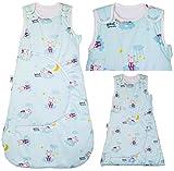 Babyschlafsack, 0-18 Monate, 2,5 tog, Knopf verstellbar 70–90 cm, verstellbarer Hals,...