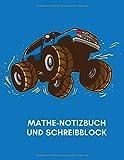 Mathe-Notizbuch und Schreibblock: Monster Truck kariertes Papier, Geometrie, Mathematik,...