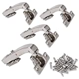 KAILEE 4 Stück 95 Grad Eckanschlag Standard Scharnier Topfscharnier mit Dämpfung Türscharnier...