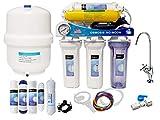 Depuragua MOON75 6-stufige Umkehrosmoseanlage, Pumpe, Manometer, Remineralisierung, Wasserhahn