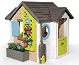 Smoby - Gartenhaus für Kinder, mit Gartenwerkzeug, 6 Blumentöpfen, Vogelhaus, Arbeitstisch, ab 2...