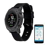MEDION S2400 GPS Sportuhr (1,3 Zoll Farbdisplay, Herzfrequnezmesser, Multi Sport Modi, Staub und...