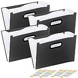 General Office Aktenablageordner: 4er Pack Kunststoff-Aktenordner mit 13 Fächern, Register &...