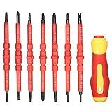 MXBIN 8 in 1 Mehrzweck Electrican Insulated Elektro-Schrauber Reparaturhandwerkzeuge Kit Set 380V...