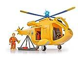 Simba – Feuerwehrmann Sam Hubschrauber Wallaby II, mit Tom Thomas Figur, mit Licht und...