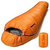 Bessport Schlafsack Winter | -10°C Outdoor Mumienschlafsack für Camping und Bergsteigen mit...