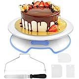 AIMTOP Tortenplatte Drehbar Tortenstnder Kuchen Drehteller Cake Decorating Turntable mit 1 Stck...