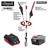 Scheppach 2IN1 Heckenschere-Hochentaster BPT700-40Li (410 mm Schnittlänge, 8' Oregon Schwert und...