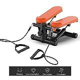 XIUQI Tragbare Twist Stepper, Fitness-Schwingen Stepper Maschine mit Widerstand-Bänder, für Weight...