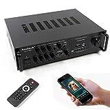 Wangkangyi 220V HiFi Verstärker Bluetooth Stereo-Amplifier Stereo-Audio Adapter Home Karaoke +...