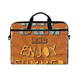 FOURFOOL Laptop Tasche 15-15.4 Zoll,Grunge Retro Genießen Sie Sommer Beschriftung Sun Beams,Neue...