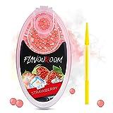 Flavouroom - Premium Ice Strawberry Kapseln 100er Set | DIY Eis Erdbeere Filter für unvergesslichen...