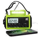 Wetterradio 5000 mAh Notfall Solar Handkurbel Radio AM/FM/SW NOAA Tragbares Survival Radio für...