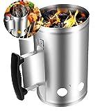 Eksesor Kaminstarter für Barbecue, Anzündkamin, Feuerkohleanzünder, Brennstarter, mit...