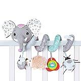 Osuner Baby-Elefant-Spirale-Plüsch-Hängespielzeug, Autositz-Spielzeug,...