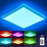 Oraymin LED Deckenleuchte RGB Farbwechsel mit Fernbedienung, 22W 2400LM Deckenlampe Dimmbar, 42cm...