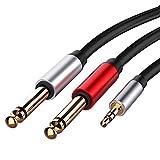 N/V 3,5 mm auf Dual 6,5 mm Klinke Audio Kabel 3,5 Klinke Splitter Audio Kabel für Mixer Verstärker...