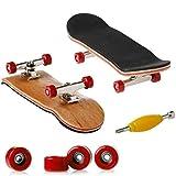 Fingerboard Fingerboard Kids Skateboard Deck Mini PU Finger Roller Spielzeug, rot