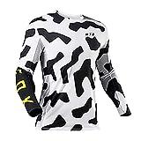 MTB Jersey T-Shirt, MTB Jersey Fox Longsleeve, MTB Jersey Shirts für Männer, Radfahren Jersey...