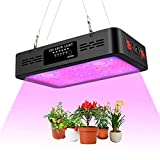 YCRD Vollspektrum 42LEDs 1200W Pflanzenlampe, Doppelschalter Einstellbar Kühlsystem Grow Light Grow...