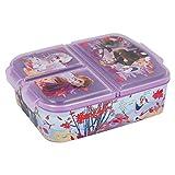 Frozen Eiskönigin Kinder Brotdose mit 3 Fächern, Kids Lunchbox,Bento Brotbox für Kinder - ideal...