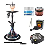Shisha-Set mit Shisha Amy Deluxe Middle Globe, Middle Zoom, Middle Cloud Rainbow, Middle Tango,...