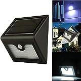 Khxypm 86 LED Solarleuchte Solarlampe für Außen Solarbetriebene 28 LED PIR Sensor-Wand-Licht im...
