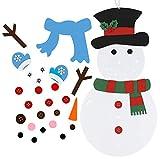 Firlar DIY Weihnachtsbaum/Schneemann-Set mit abnehmbaren Ornamenten für Kinder,...